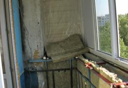 Утепление минватой балкона
