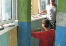 Процесс обшивки балкона гипсокартоном