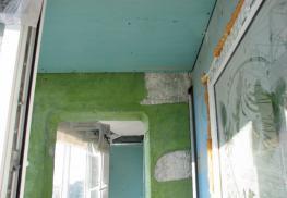 Внутренние отделочные работы на балконе