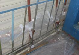 Подготовка перил для выноса балкона