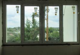 Установленное окно Aluplast Energeto