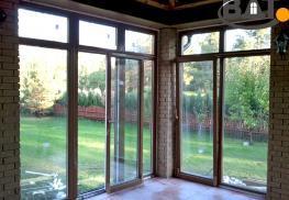 Ламинированные окна с фурнитурой DuoPort