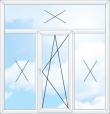 Трьохстулкове вікно з фрамугою