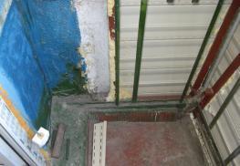Подготовка плиты балкона для выноса